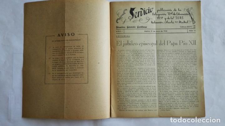 Coleccionismo de Revistas y Periódicos: REVISTA SERVICIO, Nº 13, PUBLICACION DE LA DELEGACION NACIONAL DE EDUCACION, F.E.T. Y DE LAS J.O.N.S - Foto 2 - 169738308