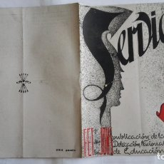 Coleccionismo de Revistas y Periódicos: REVISTA SERVICIO, Nº 24, PUBLICACION DE LA DELEGACION NACIONAL DE EDUCACION, F.E.T. Y DE LAS J.O.N.S. Lote 169738612