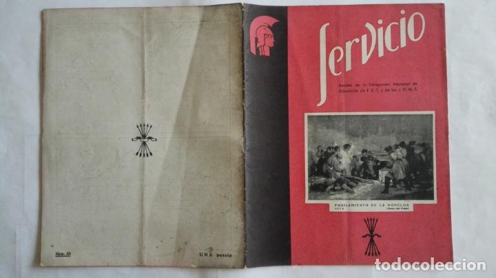 REVISTA SERVICIO, Nº 33, PUBLICACION DE LA DELEGACION NACIONAL DE EDUCACION, F.E.T. Y DE LAS J.O.N.S (Coleccionismo - Revistas y Periódicos Modernos (a partir de 1.940) - Otros)
