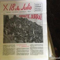 Coleccionismo de Revistas y Periódicos: 18 DE JULIO, PERIODICO. Lote 169758988