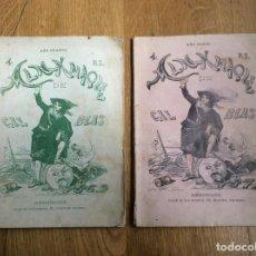 Coleccionismo de Revistas y Periódicos: ALMANAQUE DE GIL,BLAS AÑO CUARTO 1869 AÑO SEXTO 1871. Lote 169810636