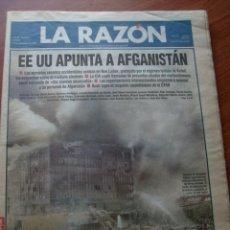 Coleccionismo de Revistas y Periódicos: PERIÓDICO LA RAZÓN EDICIÓN MADRID Nº 1035 13 SEPTIEMBRE 2001 - EN PORTADA ATENTADO 11-S . Lote 169815484
