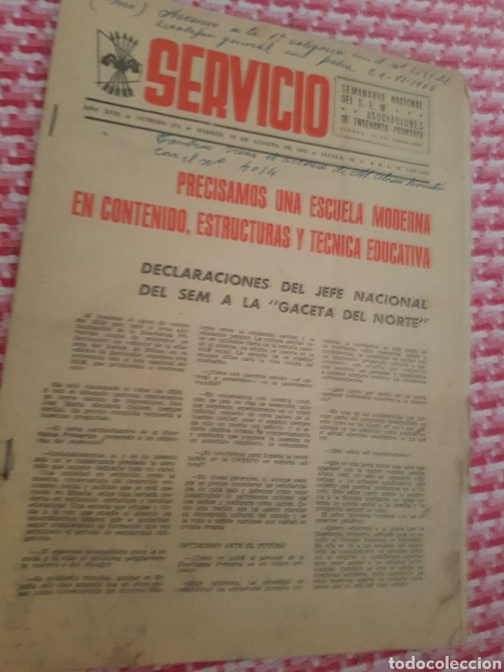 SEMANARIO NACIONAL 874 FALANGE (Coleccionismo - Revistas y Periódicos Modernos (a partir de 1.940) - Otros)
