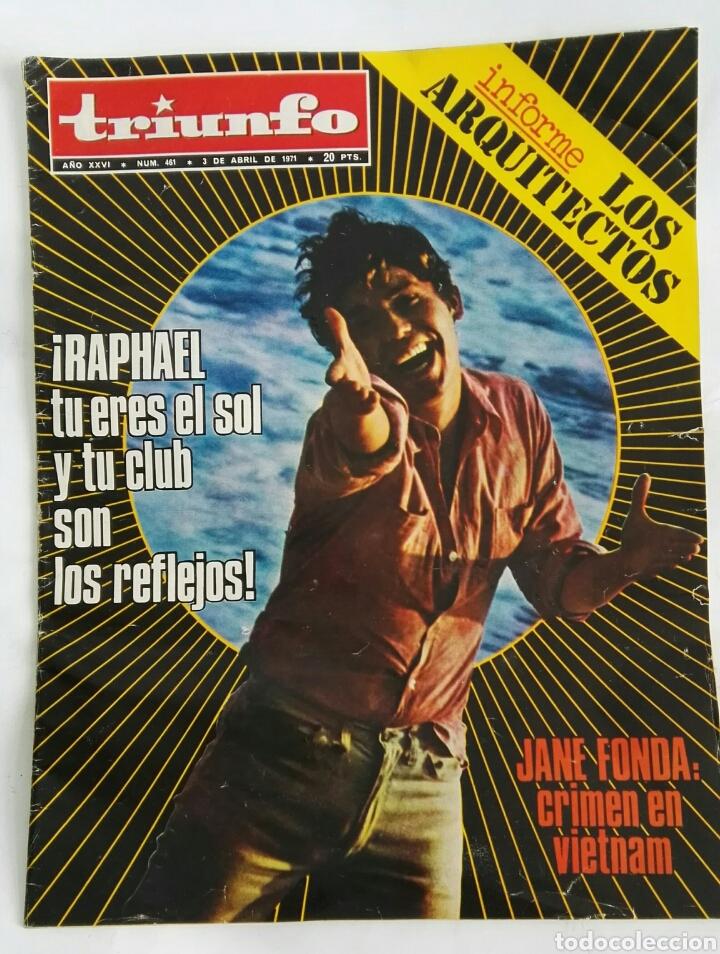 REVISTA TRIUNFO ABRIL 1971 RAPHAEL JANE FONDA (Coleccionismo - Revistas y Periódicos Modernos (a partir de 1.940) - Otros)