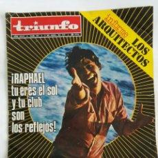 Coleccionismo de Revistas y Periódicos: REVISTA TRIUNFO ABRIL 1971 RAPHAEL JANE FONDA. Lote 169938057
