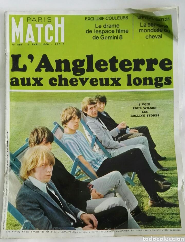REVISTA MAGAZINE PARIS MATCH N° 886 AVRIL 1966 ROLLING STONES (Coleccionismo - Revistas y Periódicos Modernos (a partir de 1.940) - Otros)