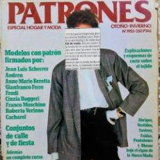 Coleccionismo de Revistas y Periódicos: REVISTA PATRONES ESPECIAL HOGAR Y MODA N° 1955 OTOÑO INVIERNO. Lote 170082932