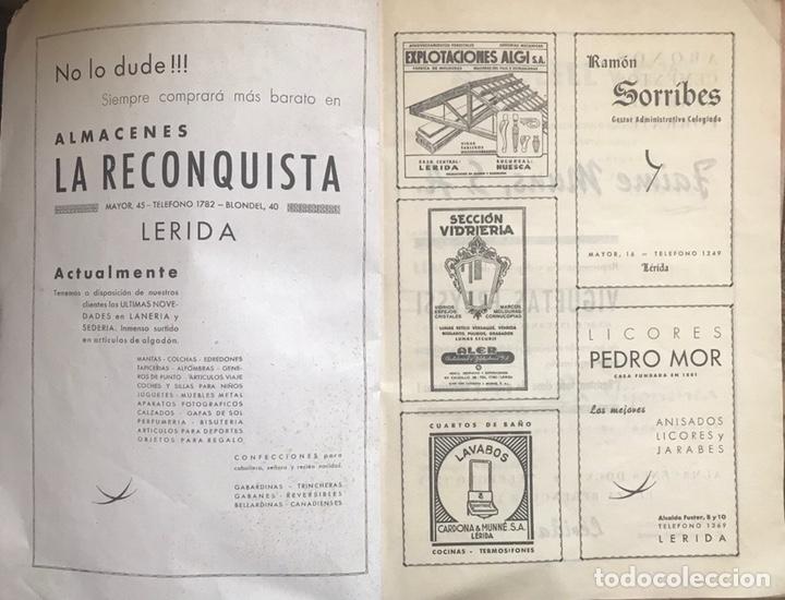 Coleccionismo de Revistas y Periódicos: REVISTA CULTURAL CIUDAD LERIDA 1950 LLEIDA FIESTAS MAYO SAN ANASTASIO FUTBOL U.E.LLEIDA CAMPEONES - Foto 6 - 170160446