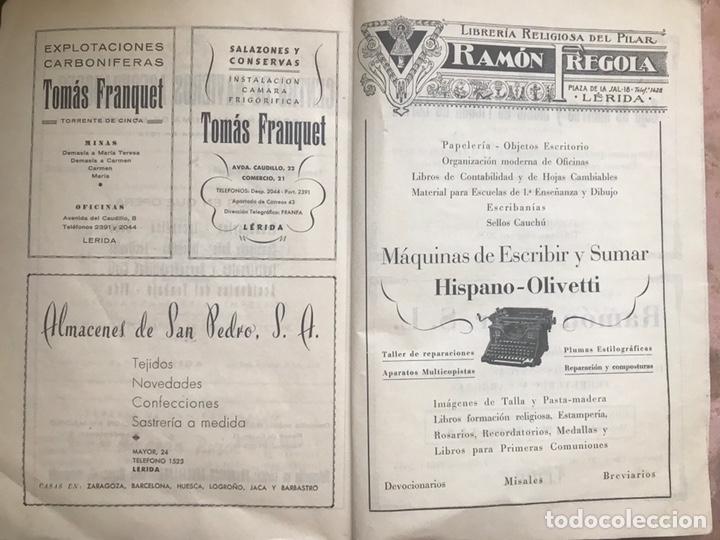 Coleccionismo de Revistas y Periódicos: REVISTA CULTURAL CIUDAD LERIDA 1950 LLEIDA FIESTAS MAYO SAN ANASTASIO FUTBOL U.E.LLEIDA CAMPEONES - Foto 8 - 170160446