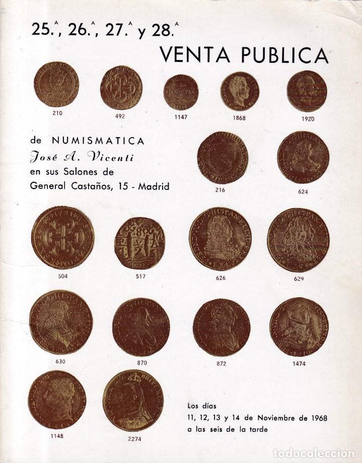 NUMISMATICA - VENTA PUBLICA - JOSÉ A. VICENTI / NOVIEMBRE 1968 - ILUSTRADO (Coleccionismo - Revistas y Periódicos Modernos (a partir de 1.940) - Otros)