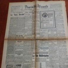Coleccionismo de Revistas y Periódicos: DIARIO DE ALICANTE 1929. Lote 170290744