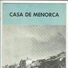 Coleccionismo de Revistas y Periódicos: 35 NÚMEROS DE LA REVISTA DE LA CASA DE MENORCA EN BARCELONA. AÑO 1967-1978. (MENORCA.1.5). Lote 170326156