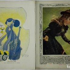 Coleccionismo de Revistas y Periódicos: ANTIGUO PERIODICO ORIGINAL, BLANCO Y NEGRO, REVISTA ILUSTRADA, Nº 474, 2 DE JUNIO DE 1900. Lote 170433248
