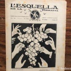 Coleccionismo de Revistas y Periódicos: L 'ESQUELLA DE LA TORRATXA Nº 1656 AÑO 1910. PERIÓDICO SATÍRICO . REPÚBLICA. Lote 170443884