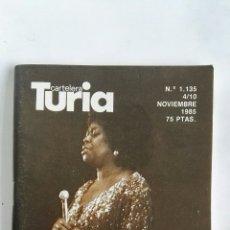 Coleccionismo de Revistas y Periódicos: CARTELERA TURIA N 1135 1985 JAZZ. Lote 170462722