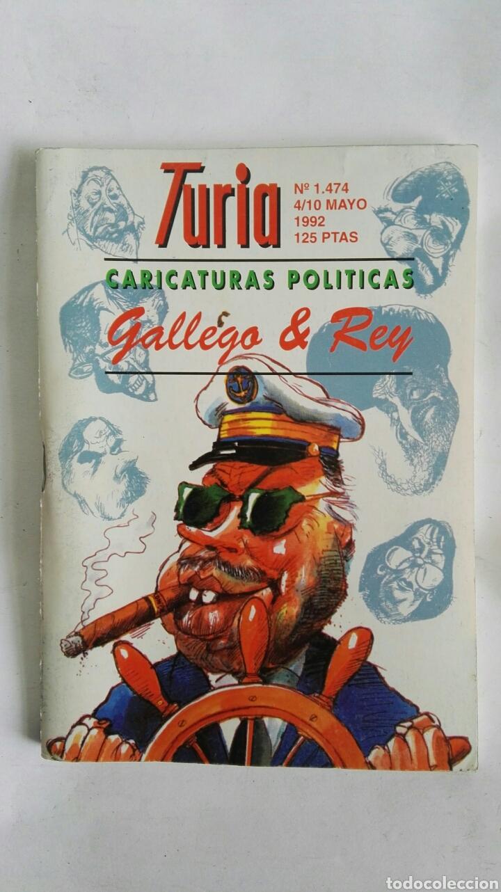 CARTELERA TURIA N 1474 1992 CARICATURAS POLÍTICAS (Coleccionismo - Revistas y Periódicos Modernos (a partir de 1.940) - Otros)