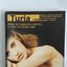 Coleccionismo de Revistas y Periódicos: CARTELERA TURIA N 1938 2001. Lote 170463390