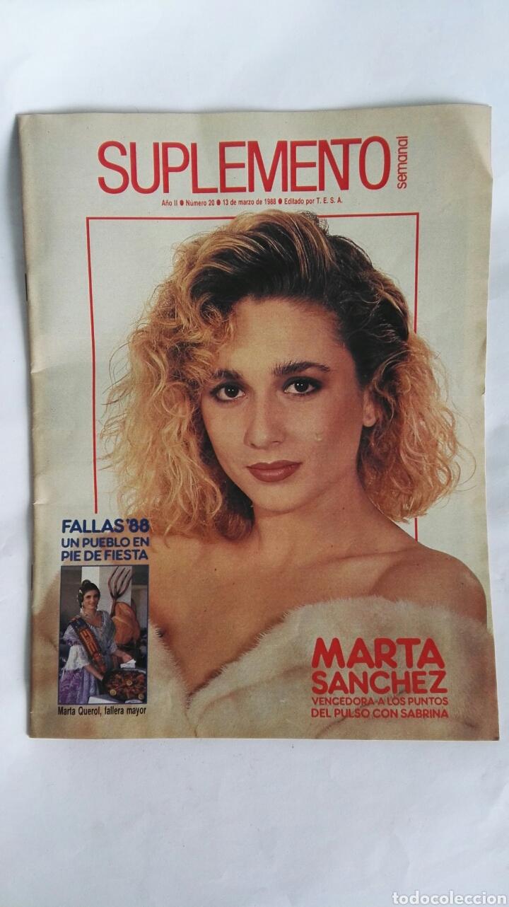 REVISTA SUPLEMENTO SEMANAL MARZO 1988 MARTA SÁNCHEZ FALLAS COMMUNARDS (Coleccionismo - Revistas y Periódicos Modernos (a partir de 1.940) - Otros)