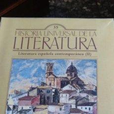Coleccionismo de Revistas y Periódicos: HISTORIA UNIVERSAL DE LA LITERATURA, Nº 35. LITERATURA ESPAÑOLA CONTEMPORANEA (II). Lote 170620305