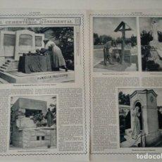 Coleccionismo de Revistas y Periódicos: REPORTAJE REVISTA ORIGINAL CIRCA 1915. EL CEMENTERIO MONUMENTAL DE MILAN, ZAMACOIS. Lote 170778860