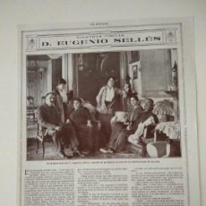 Coleccionismo de Revistas y Periódicos: ENTREVISTA REVISTA ORIGINAL CIRCA 1915 A DON EUGENIO SELLÉS, ESCRITOR. Lote 170779400