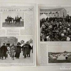 Coleccionismo de Revistas y Periódicos: REPORTAJE REVISTA ORIGINAL 1914. ALFONSO XIII EN CAMPAMENTO DE LOS ALIJARES. Lote 170784440