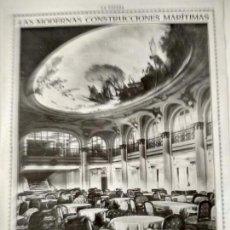 Coleccionismo de Revistas y Periódicos: HOJA REVISTA ORIGINAL CIRCA 1915. MODERNAS CONSTRUCCIONES MARITIMAS, VATERLAND. Lote 170844805