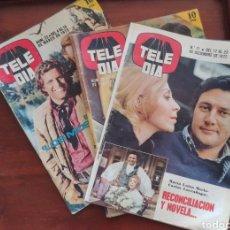 Coleccionismo de Revistas y Periódicos: LOTE 3 REVISTAS TELE DIA. Lote 170906400