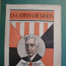 Coleccionismo de Revistas y Periódicos: LA CAMPANA DE GRACIA 1 OCTUBRE 1932 PARLAMENT DE CATALUNYA LES COOPERATIVES ELECTRIQUES OPISSO. Lote 170980607