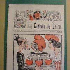 Coleccionismo de Revistas y Periódicos: LA CAMPANA DE GRACIA 23 MARÇ 1934 LA MORT DE JOSEP MORAGUES . Lote 170980905