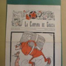Coleccionismo de Revistas y Periódicos: LA CAMPANA DE GRACIA 11 MAIG 1934 LA LLIGA ES QUEDA SOLA I ANIVERSARI CREMA LLIBRES HITLER . Lote 170981408