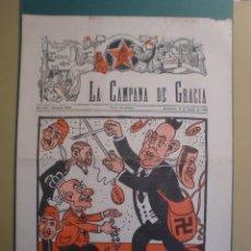 Coleccionismo de Revistas y Periódicos: LA CAMPANA DE GRACIA 9 FEBRER 1934 LA LLIGA REPUBLICA FEIXISME. Lote 170981600