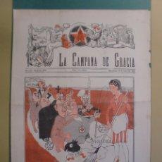 Coleccionismo de Revistas y Periódicos: LA CAMPANA DE GRACIA 16 MARÇ 1934 EL SENYOR LERROUX TE UN LATIGO LA UNIO FA LA FORÇA. Lote 170982083