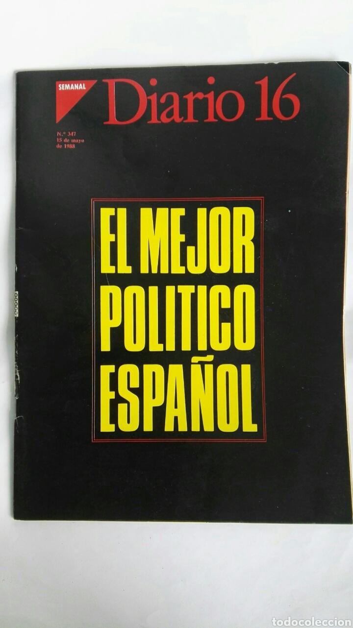 DIARIO 16 SEMANAL MAYO 1988 (Coleccionismo - Revistas y Periódicos Modernos (a partir de 1.940) - Otros)