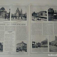 Coleccionismo de Revistas y Periódicos: REPORTAJE REVISTA ORIGINAL 1915. POLONIA, LA CRUCIFICADA. Lote 171027379