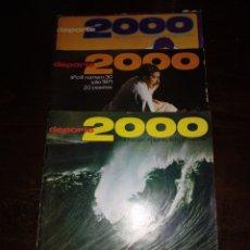 Coleccionismo de Revistas y Periódicos: DEPORTES 2000 1972 AGOSTO , AGOSTO 1971, JULIO 1971. Lote 171102464