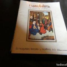 Coleccionismo de Revistas y Periódicos: REVISTA MAQUINISTA DE EMPRESA DE LA MQUINISTRA TERRESTE Y MARITIMA REVISTA NUM 62 . Lote 171118322