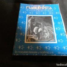 Coleccionismo de Revistas y Periódicos: REVISTA MAQUINISTA DE EMPRESA DE LA MQUINISTRA TERRESTE Y MARITIMA REVISTA NUM 30 . Lote 171118863