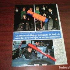 Coleccionismo de Revistas y Periódicos: RECORTE - DIANA DE GALES Y DUQUESA DE YORK -SEMANA AÑO 1991 VER DETALLES. Lote 171161314