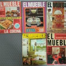 Coleccionismo de Revistas y Periódicos: LOTE 5 REVISTAS EL MUEBLE AÑOS 60/70. Lote 171176257