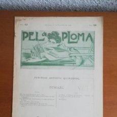 Coleccionismo de Revistas y Periódicos: PEL & PLOMA NÚM. 63 PERIÓDIC ARTÍSTIC QUINZENAL - 1 DE NOVEMBRE DE 1900 - R. CASAS. Lote 171194733