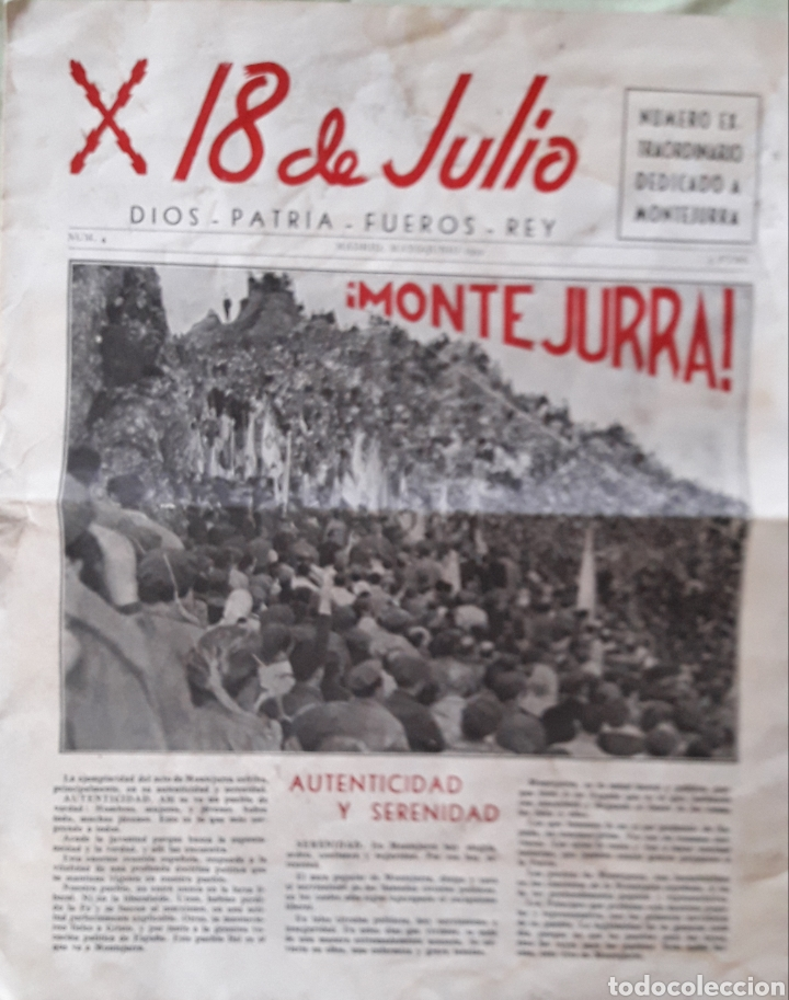 X 18 JULIO PERIÓDICO 1959 (Coleccionismo - Revistas y Periódicos Modernos (a partir de 1.940) - Otros)