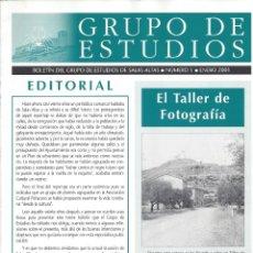 Coleccionismo de Revistas y Periódicos: BOLETIN GRUPO ESTUDIOS SALAS ALTAS Nº 1. ENERO 2001. Lote 171300059