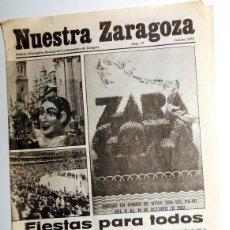 Coleccionismo de Revistas y Periódicos: BOLETIN INFORMATIVO MENSUAL AYUNTAMIENTO ZARAGOZA ANTIGUO. NUESTRA ZARAGOZA. FIESTAS PILAR 1983. Lote 171362068