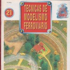 Coleccionismo de Revistas y Periódicos: TECNICAS DE MODELISMO FERROVIARIO N. 21 . Lote 171385715
