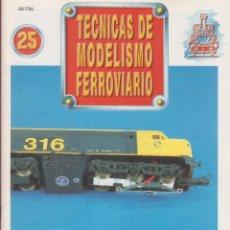 Coleccionismo de Revistas y Periódicos: TECNICAS DE MODELISMO FERROVIARIO N. 25.. Lote 171386638