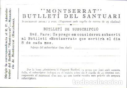 Coleccionismo de Revistas y Periódicos: Butlletí del Santuari de Montserrat. Any 1 núm. 1. Gener 1927. 26x19cm.16 p. Porta la butlleta per - Foto 4 - 171411628