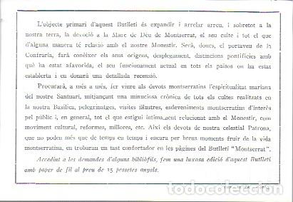 Coleccionismo de Revistas y Periódicos: Butlletí del Santuari de Montserrat. Any 1 núm. 1. Gener 1927. 26x19cm.16 p. Porta la butlleta per - Foto 3 - 171411628