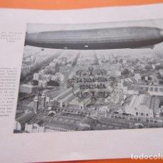 Coleccionismo de Revistas y Periódicos: FOTOS 1929 - EL CONDE ZEPPELIN SOBREVUELA BARCELONA - SANTANDER CASA SALUD VALDECILLA . Lote 171415129