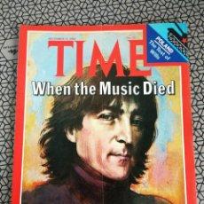 Coleccionismo de Revistas y Periódicos: REVISTA TIME 1980, JOHN LENNON. Lote 171423030
